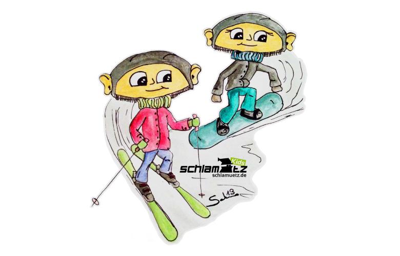 Maxl und Franzi: Beim Wintersport