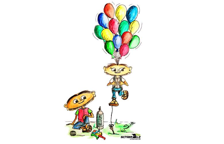 Maxl und Franzi: Die Ballonfahrt