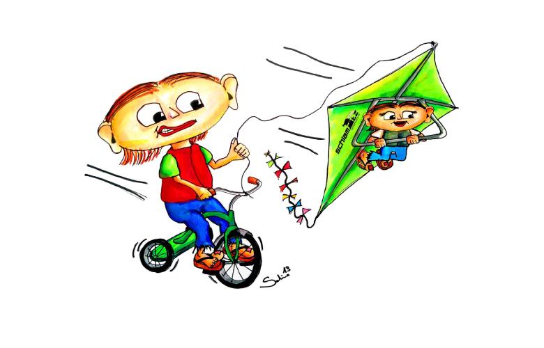 Maxl und Franzi: Beim Kiten