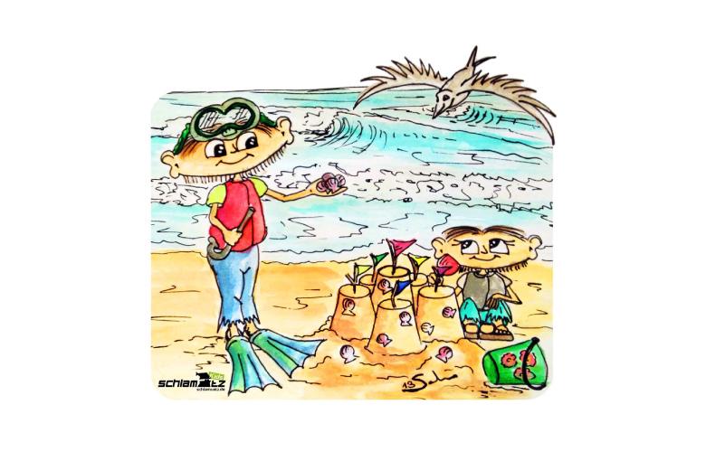 Maxl und Franzi: Am Strand