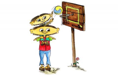 Maxl und Franzi: Beim Basketball